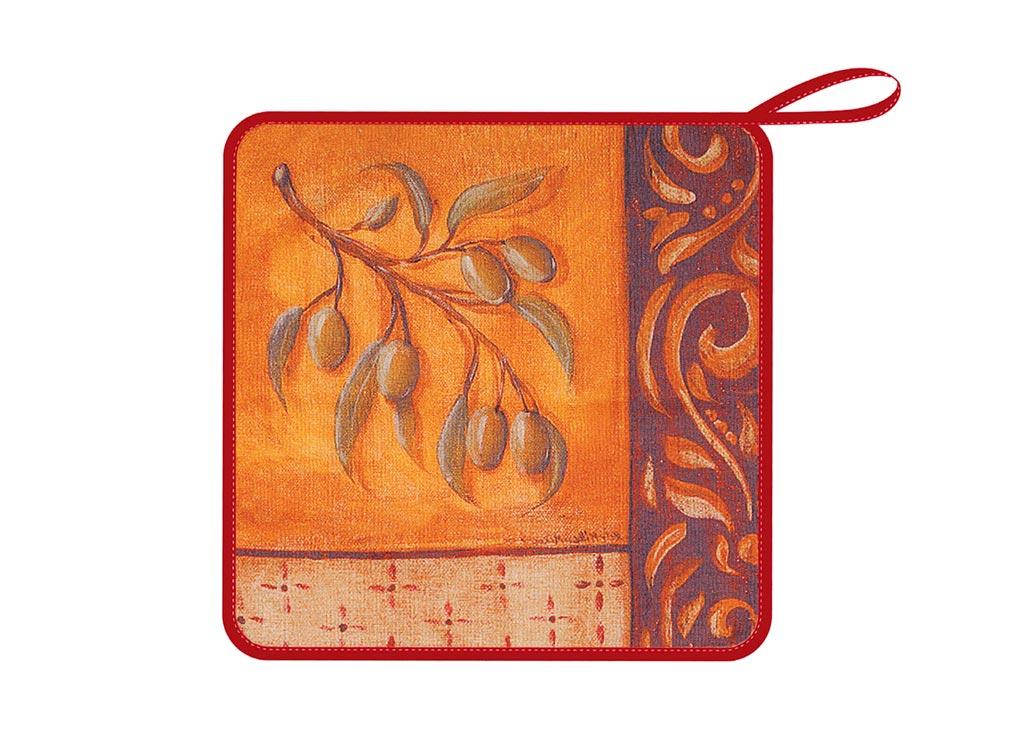 Салфетка Soavita Оливки, 30х30 см, цвет: терракот87579Перед использованием постирать при температуре не выше 40 градусов