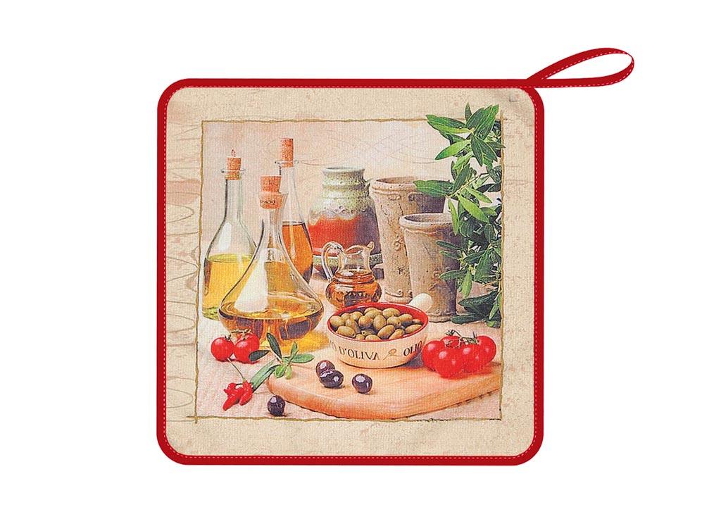 Салфетка Soavita Оливки, 30х30 см, цвет: коричневый87581Перед использованием постирать при температуре не выше 40 градусов