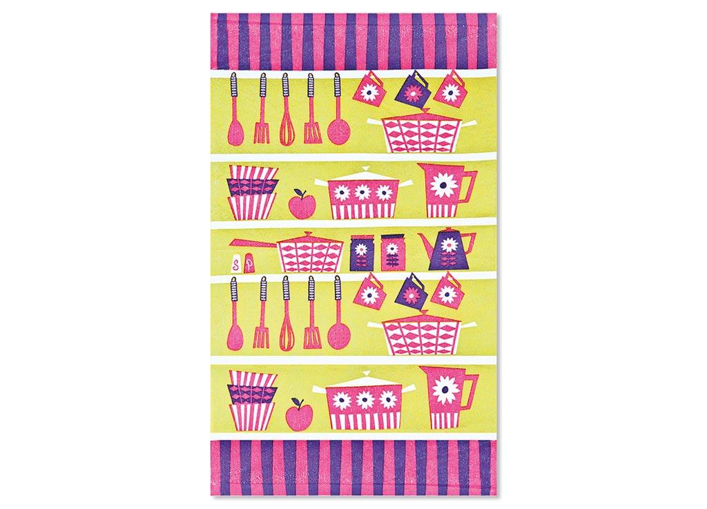Салфетка Soavita Кухонная утварь, цвет: оливковый, фуксия, лиловый, 38 х 64 см87583Кухонная салфетка Soavita Кухонная утварь выполнена из высококачественной микрофибры и украшена оригинальным рисунком. Изделие отлично впитывает влагу, быстро сохнет, сохраняет яркость цвета и не теряет форму даже после многократных стирок. Салфетка очень практична и неприхотлива в уходе. Она создаст прекрасное настроение и украсит интерьер вашей кухни. Перед использованием постирать при температуре не выше 40°C.