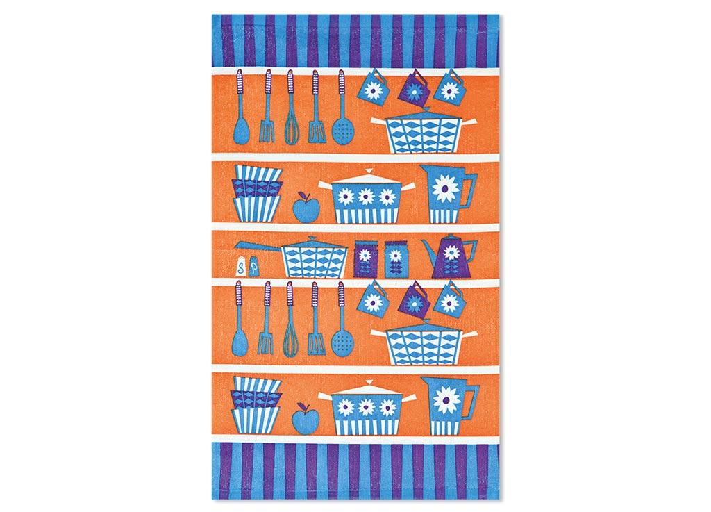Салфетка Soavita Кухонная утварь, цвет: терракот, голубой, лиловый, 38 х 64 см87585Кухонная салфетка Soavita Кухонная утварь выполнена из высококачественной микрофибры и украшена оригинальным рисунком. Изделие отлично впитывает влагу, быстро сохнет, сохраняет яркость цвета и не теряет форму даже после многократных стирок. Салфетка очень практична и неприхотлива в уходе. Она создаст прекрасное настроение и украсит интерьер вашей кухни. Перед использованием постирать при температуре не выше 40°C.