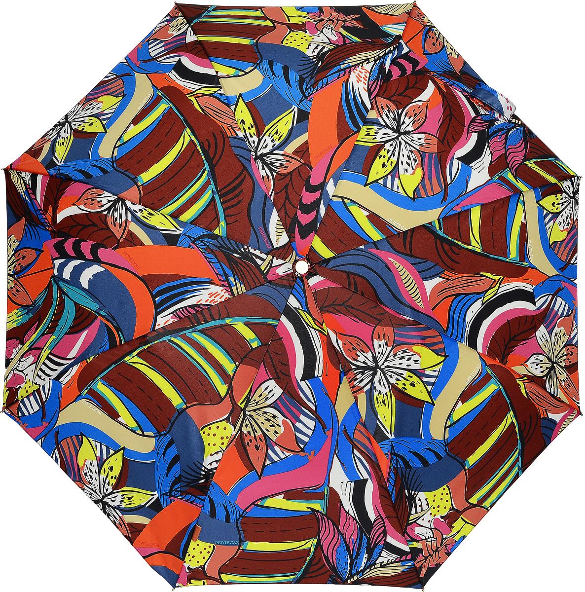 PERTEGAZ 85151-1 Зонт полный автом. 3 сл. жен.85151-1Зонт испанского производителя Clima. В производстве зонтов используются современные материалы, что делает зонты легкими, но в то же время крепкими.Полный автомат, 3 сложения, 8 спиц, полиэстер.