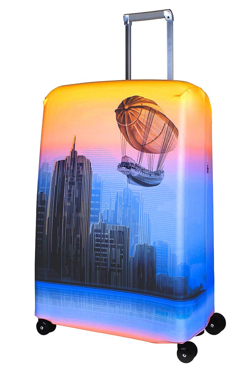 Чехол для чемодана Coverway Zeppeline, размер L/XL (75-85 см)Zep-L/XLДля больших чемоданов, высотой от 75 до 85 см (29-33 inch) (мерить от пола). Плотность ткани - 240 г/кв.м, упрочненные швы, 2 потайные молнии для боковых ручек с двух сторон. Внизу чехла - молния трактор, дополнительная резинка с фастексом для лучшей усадки. Стойкая сублимационная печать.