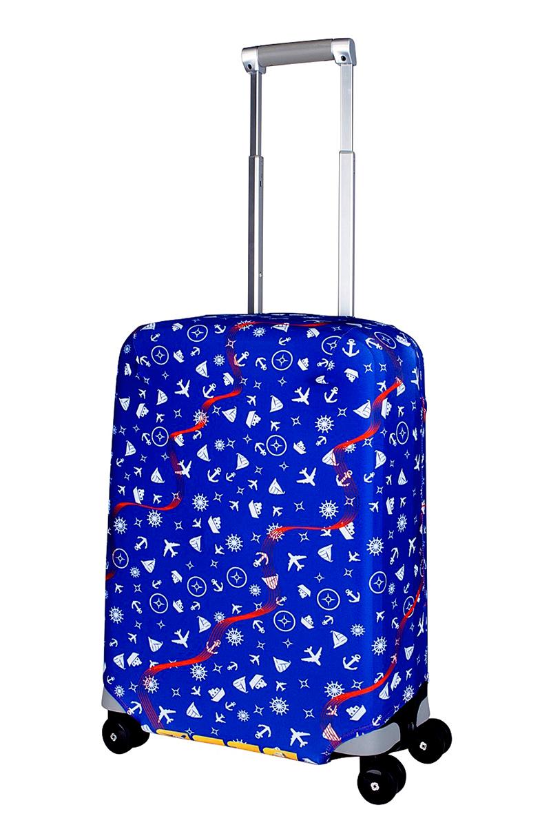 Чехол для чемодана Coverway Traveler, размер S (50-55 см)Trav-SДля чемоданов маленьких размеров, высотой от 50 до 55 см (19-21 inch) (мерить от пола). Плотность ткани - 240 г/кв.м, упрочненные швы, 2 потайные молнии для боковых ручек с двух сторон. Внизу чехла - молния трактор, дополнительная резинка с фастексом для лучшей усадки. Стойкая сублимационная печать.