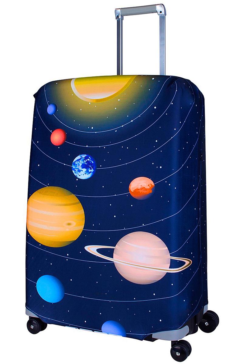Чехол для чемодана Coverway Solar, размер L/XL (75-85 см)Sol-L/XLДля больших чемоданов, высотой от 75 до 85 см (29-33 inch) (мерить от пола). Плотность ткани - 240 г/кв.м, упрочненные швы, 2 потайные молнии для боковых ручек с двух сторон. Внизу чехла - молния трактор, дополнительная резинка с фастексом для лучшей усадки. Стойкая сублимационная печать.