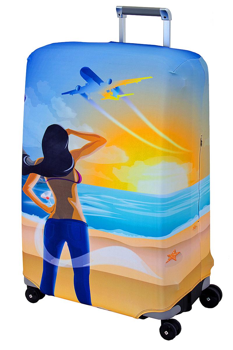 "Чехол для чемодана Coverway ""Hellow Yellow"", размер L/XL (75-85 см)"