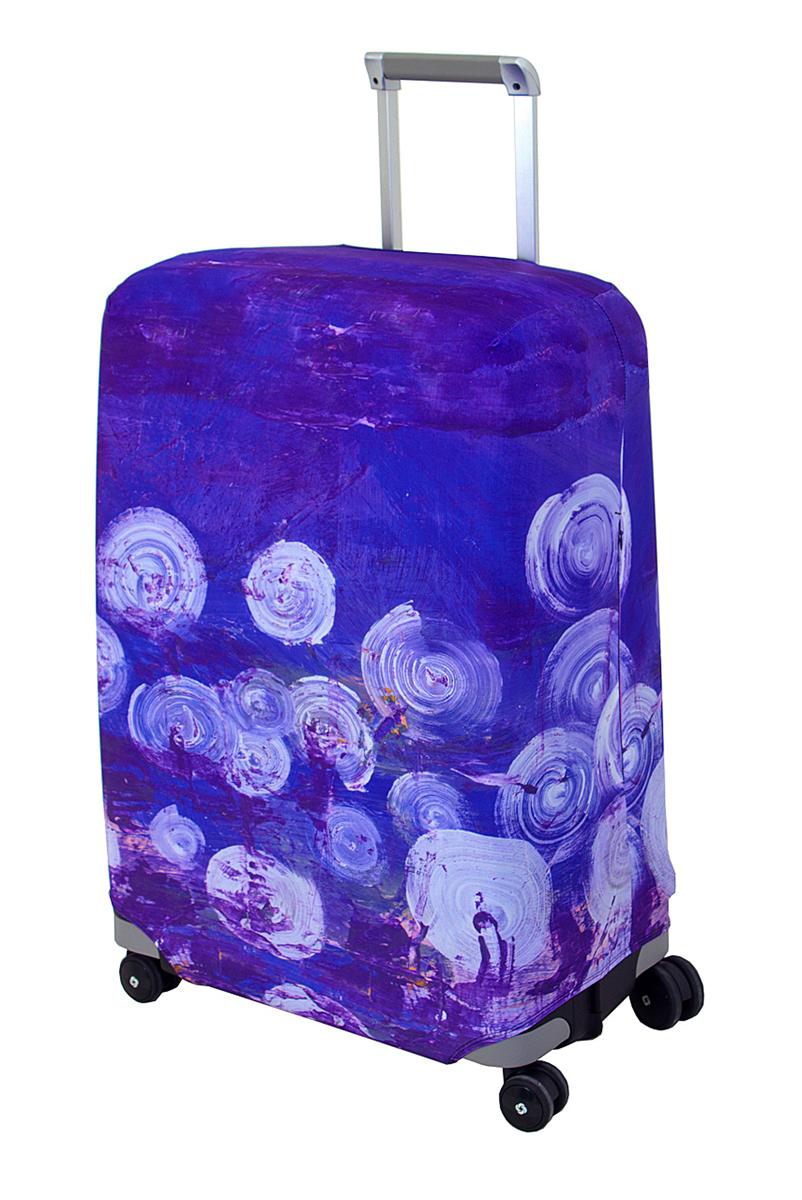 "Чехол для чемодана Coverway ""Night Lights"", размер M/L (65-74 см)"
