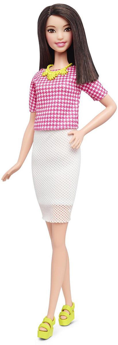 Barbie Кукла Fashionistas цвет наряда белый розовый