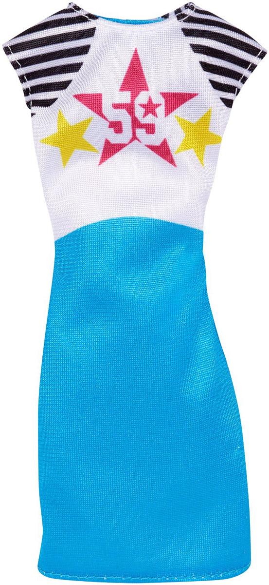 Barbie Платье для куклы цвет белый голубойCFX65_DNT83Платье для куклы Barbie станет украшением гардероба любимой куклы малышки. Платье без рукавов выполнено из текстиля и украшено изображением звезд с цифрой 59. Платье застегивается сзади на липучку. Сделайте вашей малышке такой замечательный подарок!