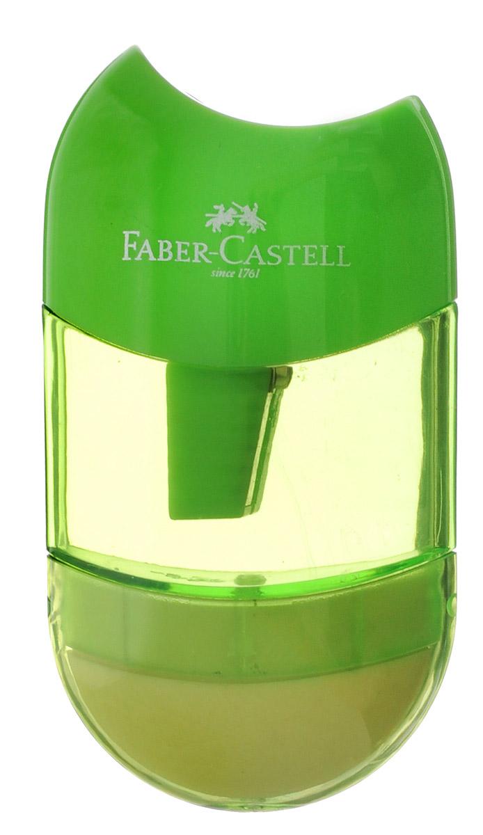 Faber-Castell Точилка-мини с контейнером и ластиком цвет салатовый183601_салатовыйТочилка Faber-Castell - качественная простая точилка с контейнером для стружек и ластиком. Точилка предназначена для классических, трехгранных, простых и цветных карандашей.