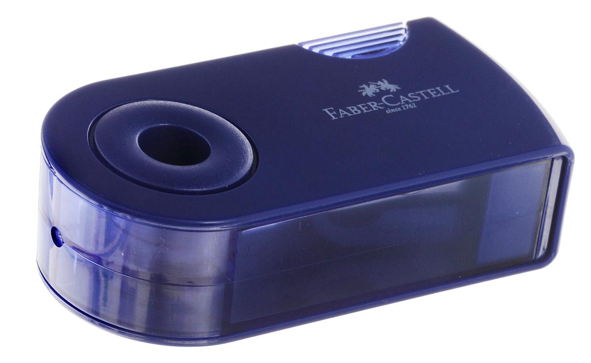 Faber-Castell Точилка двойная Sleeve цвет синий182701_синийТочилка двойная Faber-Castell Sleeve выполнена из прочного пластика синего цвета. В точилке имеются два отверстия для карандашей разного диаметра, подходит для различных видов карандашей. Эргономичная форма контейнера обеспечивает стабильное положение кисти. Карандаш затачивается легко и аккуратно, а опилки после заточки остаются в специальном контейнере повышенной вместимости.