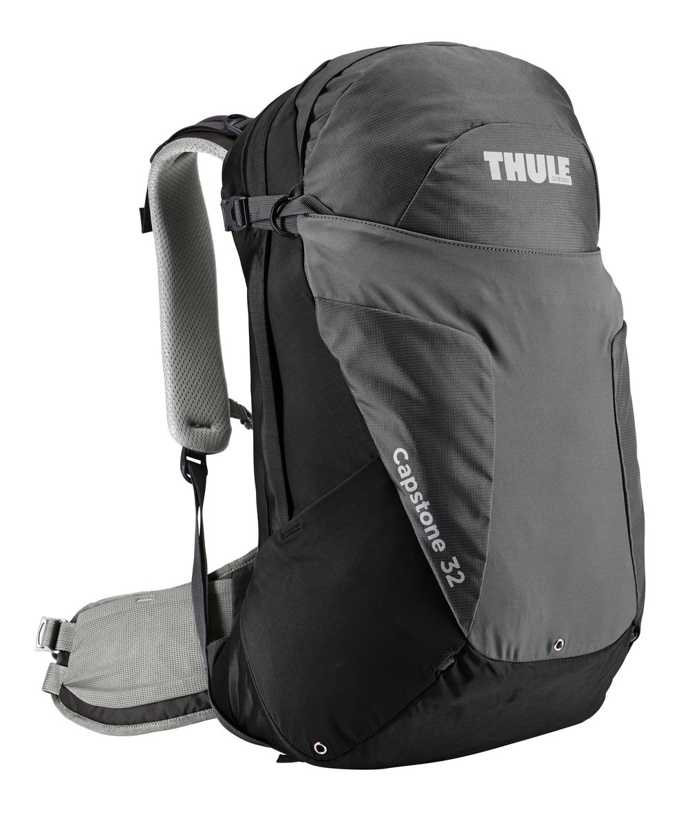 Рюкзак мужской Thule Capstone, цвет: черно-серый, 32л207100Мужской рюкзак для пеших путешествий Thule Capstone вместительностью 32 лМужской рюкзак для пеших путешествий Thule Capstone 32 л Thule Capstone 32 л идеально подходит для однодневных путешествий или коротких походов. Рюкзак снабжен системой крепления MicroAdjust, которая обеспечивает максимальную регулировку для идеальной посадки, натягиваемой сеточной задней панелью для максимальной воздухопроницаемости и вшитой накидкой от дождя.