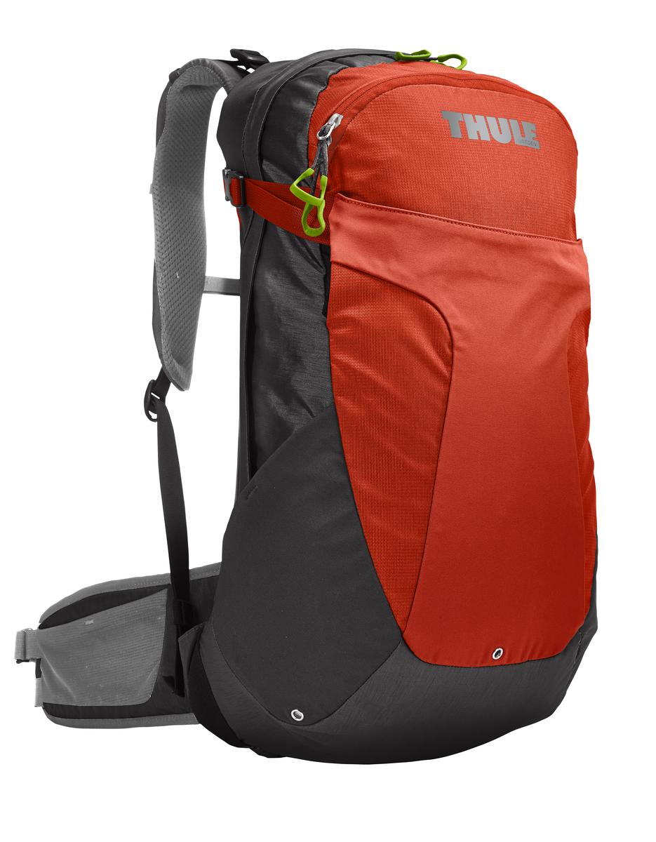 Рюкзак мужской Thule Capstone, цвет: оранжевый, серый, 22 л. Размер M/L207304Мужской рюкзак Thule Capstone сочетает в себе современный дизайн, функциональность и долговечность. Он выполнен из прочного нейлона. Рюкзак содержит одно вместительное отделение, закрывающееся на застежку-молнию с двумя бегунками. Внутри располагается карман без застежки. На лицевой стороне рюкзака расположены 2 внешних кармана, один из которых закрывается на застежку-молнию и имеет текстильный ремешок с пластиковым карабином для ключей, другой закрепляется двумя застежками фастекс. По бокам рюкзака расположены два внешних кармана без застежки. А также карманы с застежкой-молнией на крышке и набедренном ремне для хранения солнцезащитных очков и других мелких предметов. Рюкзак дополнительно фиксируется на груди при помощи регулируемых по длине текстильных ремней с пластиковым карабином. Компрессионные стропы позволяют сжать рюкзак до нужного размера и предотвращают перемещение предметов внутри изделия. Такой рюкзак идеально...