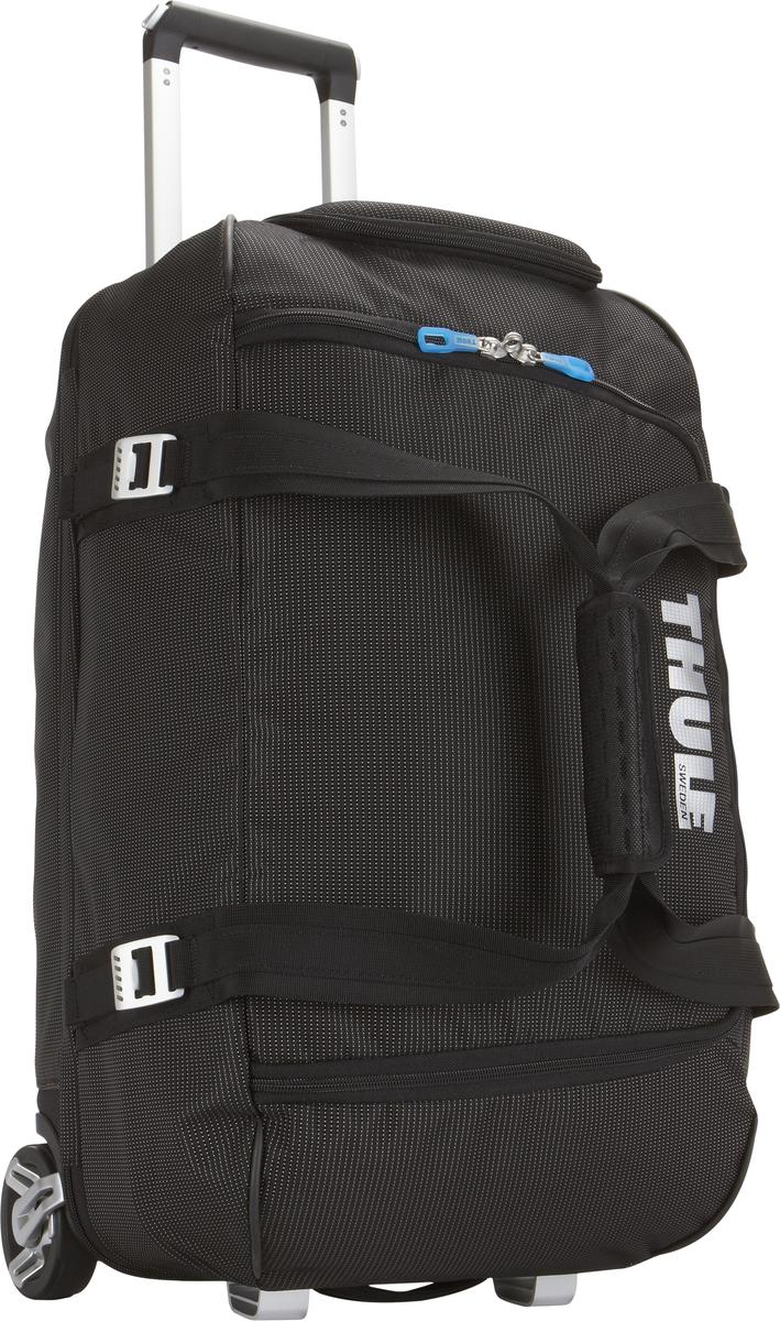 Багажная сумка Thule Crossover Rolling Duffel, на колесах, цвет: черный, 56л. TCRD13201092Дорожная сумка на колесах Thule Crossover 56L - Отличная сумка с широким входом, куда можно с легкостью положить шлем, ботинки, перчатки, куртку и другие туристические принадлежности. Алюминиевый каркас и водостойкий материал делают эту сумку легкой, но прочной Надежный экзоскелет и задняя обшивка из полипропилена обеспечат надежную защиту во время путешествий в самых сложных условиях. Крепкие колеса увеличенного размера и телескопические ручки с технологией Thule V-Tubing гарантируют мягкое, плавное и ровное движение в течение многих лет. Регулировочные ремни для подгонки размера сумки в зависимости от количества багажа Изготовленное по технологии горячей прессовки ударопрочное отделение SafeZone защитит ваши очки, портативную электронику и другие хрупкие вещи (отделение запирается и может быть удалено для освобождения дополнительного места). Главное отделение с отсеками поможет отделить чистое от грязного, мокрое от сухого и деловое от повседневного.