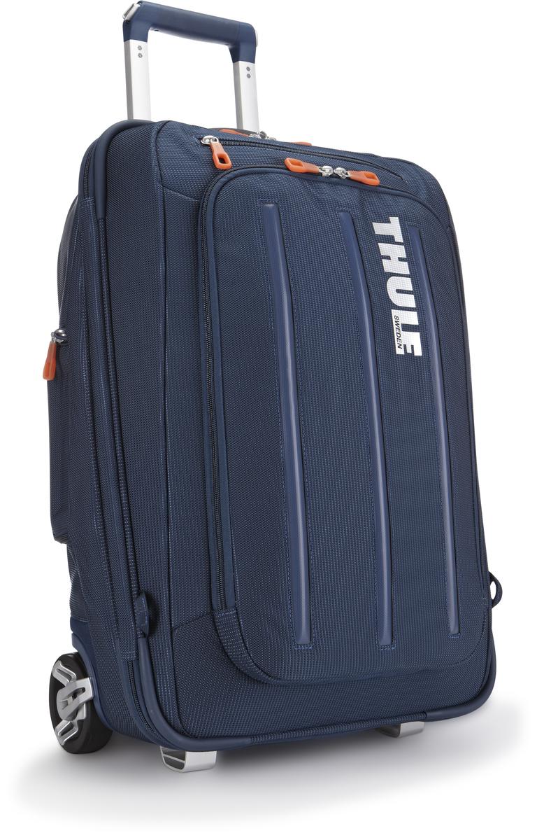 Чемодан-рюкзак Thule Crossover Rolling-On, на колесах, цвет: темно-синий, 38л. TCRU1153201503Чемодан на колесах Thule Crossover 56 см - Мучаетесь вопросом, что купить — рюкзак или сумку на колесиках? Есть простой ответ: купите два в одном, вертикальную сумку на колесиках с убирающимися ремнями для переноски на плечах. Верхний карман с мягкой прокладкой подойдет для 15-дюймового MacBook Pro или ноутбука С помощью потайных ремней вы сможете легко и быстро надеть сумку на плечи. Колеса не касаются спины, когда сумка-тележка используется как рюкзак, что обеспечивает чистоту и комфорт во время путешествия. Облегченный, но прочный материал также является водостойким. Надежный экзоскелет и задняя обшивка из полипропилена обеспечат надежную защиту во время путешествий в самых сложных условиях. Крепкие колеса увеличенного размера и телескопические ручки с технологией Thule V-Tubing гарантируют мягкое, плавное и ровное движение в течение многих лет. Изготовленное по технологии горячей прессовки ударопрочное отделение SafeZone защитит ваши солнечные очки,...
