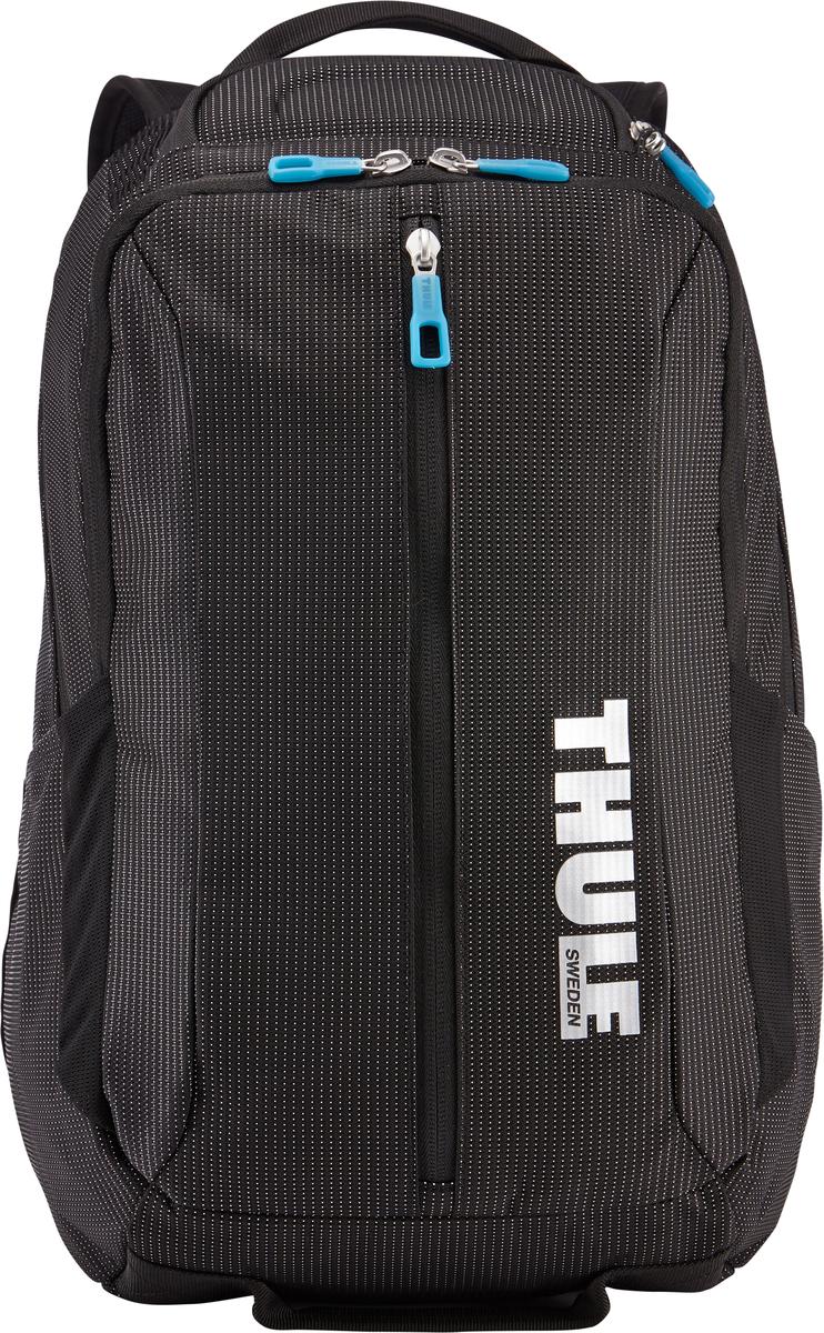 Рюкзак Thule Crossover, цвет: черный, 25л. TCBP3173201989Рюкзак Thule Crossover, 25 л - Сложите в этот прочный рюкзак все необходимое: в нем есть отделение с дополнительной защитой для электронных устройств и многофункциональное отделение для других вещей. Внутренний отдел с мягкой прокладкой подойдет для MacBook Pro 15 или ноутбука Отдельный карман с мягкой подкладкой для iPad В ударопрочном отделении SafeZone для солнечных очков и хрупких вещей есть специальный карман для телефона Отделение SafeZone можно закрыть на замок, а если нужно освободить дополнительное пространство, можно полностью убрать его Перфорированные наплечные ремни из EVA с сетчатым покрытием и мягкая задняя подушка со специальными порами, пропускающими воздух, создают ощущение комфорта и позволяют вашей спине «дышать». Водостойкий материал и надежные застежки-молнии делают эту сумку легкой, но прочной В отделе-органайзере можно хранить зарядные устройства и другие аксессуары, которые всегда должны быть под рукой, но не должны валяться где...