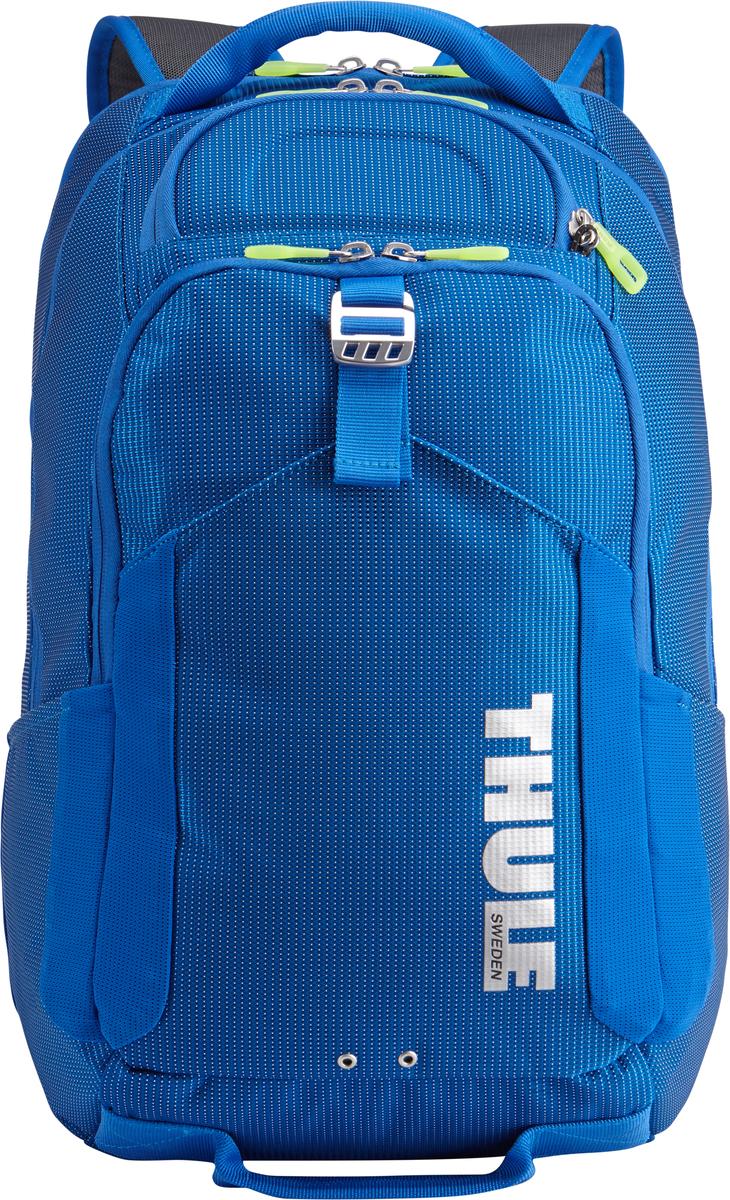 Рюкзак Thule Crossover, цвет: темно-синий, 32л. TCBP4173201992Рюкзак Thule Crossover, 32 л - В этот прочный рюкзак можно сложить вещи как для ежедневных поездок, так и для отдыха на выходных: в нем есть специальное отделение с дополнительной защитой для электронных устройств, вместительные отделения и отделения-органайзеры. Закрывающееся на молнию отделение с мягкой подкладкой для MacBook Pro 15 или ноутбука, iPad и накладной карман для вещей В ударопрочном отделении SafeZone для солнечных очков и хрупких вещей есть специальный карман для телефона Отделение SafeZone можно закрыть на замок, а если нужно освободить дополнительное пространство, можно полностью убрать его Карман Shove-it Pocket с регулируемыми ремешками обеспечивает дополнительное пространство для куртки или газеты Перфорированные наплечные ремни из EVA с сетчатым покрытием и мягкая задняя подушка со специальными порами, пропускающими воздух, создают ощущение комфорта и позволяют вашей спине «дышать». Водостойкий материал и надежные застежки-молнии делают...