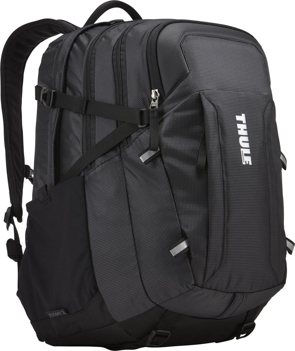 Рюкзак Thule EnRoute ESCORT, цвет: черный, 27л. TCBP4173202887Рюкзак Thule EnRoute Escort 2 - Рюкзак объемом 27 л обеспечивает оптимальную вместимость для повседневного хранения вещей. Отличается использованием конструкции SafeEdge для защиты ноутбука. Вмещает MacBook Pro с диагональю экрана 15 или ноутбук с диагональю экрана 15,6 и дополнительно планшет Отделение для ноутбука с конструкцией SafeEdge и дополнительный чехол для планшета с мягкой подкладкой В ударопрочном отделении SafeZone для солнечных очков и хрупких вещей есть специальный карман для телефона В отделении для ноутбука также можно хранить питьевую систему (в комплект не входит) Большое основное отделение позволяет хранить ваше снаряжение отдельно от электроники Карманы на переднем клапане, обеспечивающие быстрый доступ Потайные крепления со светоотражающими деталями Панель-органайзер обеспечит надежное хранение и быстрый поиск мелких предметов. Выемки для вентиляции на задней стороне обеспечивают циркуляцию воздуха. Поясной ремень...