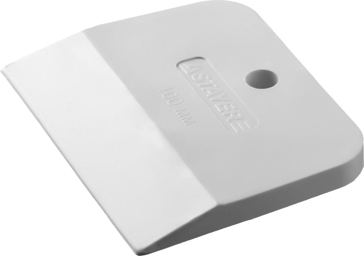 Шпатель резиновый Stayer Master, 100мм, цвет: белый1027-100Шпатель STAYER MASTER резиновый белый, 100мм