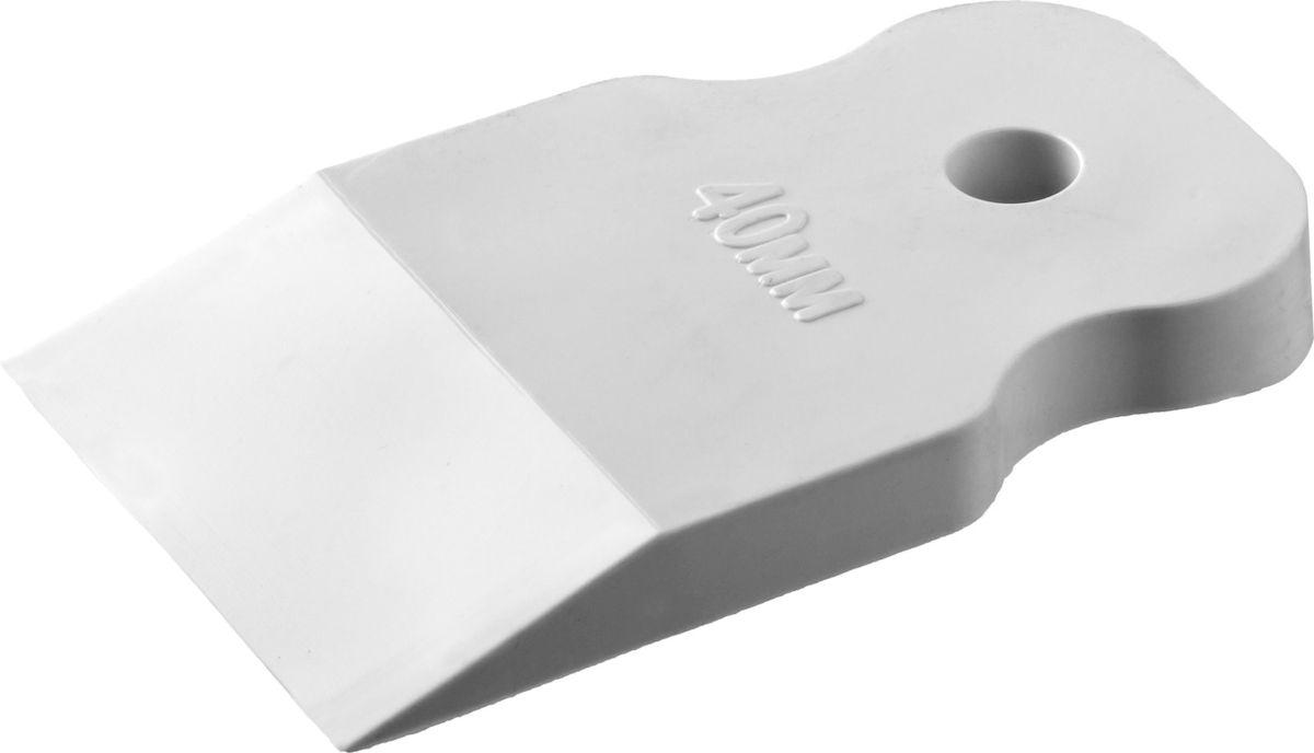 Шпатель резиновый Stayer Master, 40мм, цвет: белый1027-40Шпатель STAYER MASTER резиновый белый, 40мм
