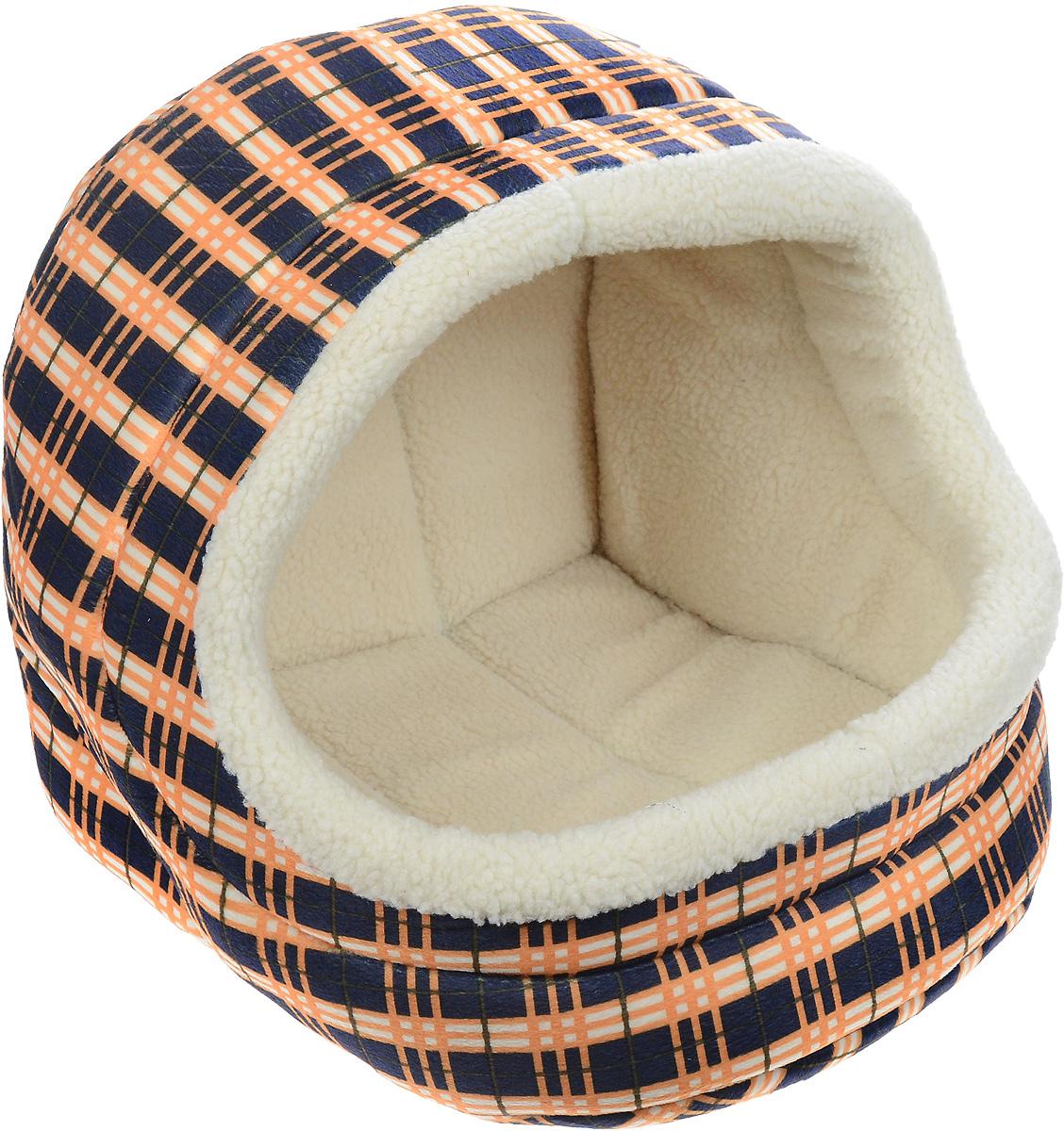 Домик для животных Каскад Клетка. №3, 45 х 40 х 40 см91002864Домик для животных Каскад Клетка. №3, выполненный из высококачественного текстиля, обязательно понравится вашему питомцу. Домик предназначен для собак и кошек. Он очень удобный и уютный. Ваш любимец обязательно захочет забраться в этот домик, как только его увидит. Компактные размеры позволят поместить домик где угодно, а приятная цветовая гамма сделает его оригинальным дополнением любого интерьера.