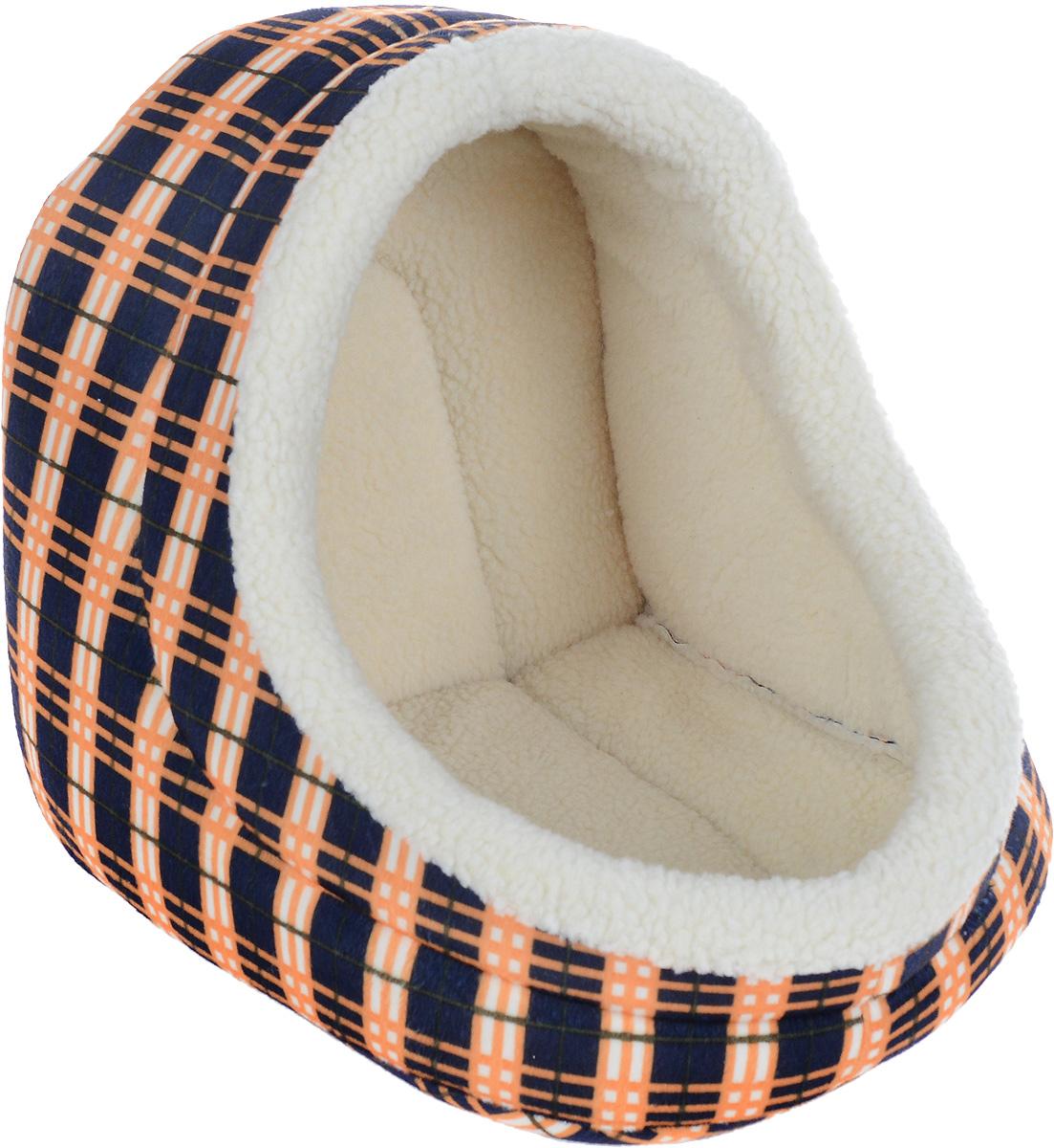 Домик для животных Каскад Клетка. №2, 38 х 35 х 34 см91002863Домик для животных Каскад Клетка. №2, выполненный из высококачественного текстиля, обязательно понравится вашему питомцу. Домик предназначен для собак и кошек. Он очень удобный и уютный. Ваш любимец обязательно захочет забраться в этот домик, как только его увидит. Компактные размеры позволят поместить домик где угодно, а приятная цветовая гамма сделает его оригинальным дополнением любого интерьера.
