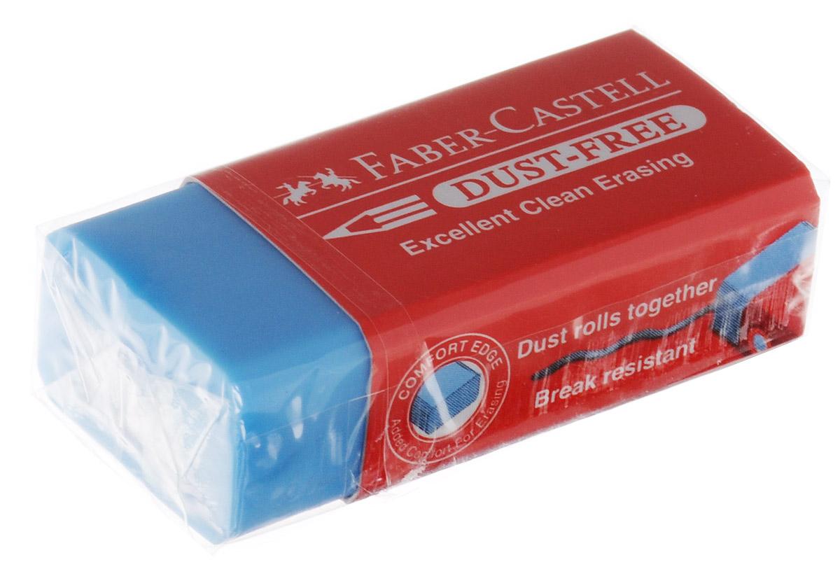 Faber-Castell Ластик Dust-Free цвет голубой187125_голубойЛастик Faber-Castell Dust-Free станет незаменимым аксессуаром на рабочем столе не только школьника или студента, но и офисного работника. Аккуратный и не оставляет грязных разводов. Кроме того высококачественный ластик не повреждает бумагу даже при многократном стирании.