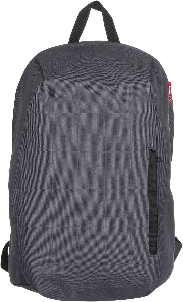 Рюкзак Reisenthel, цвет: серый. RC7033RC7033Практичный рюкзак Reisenthel изготовлен из качественного полиэстера. Изделие содержит одно вместительное отделение, которое закрывается на застежку- молнию. Внутри расположен мягкий карман для ноутбука на липучке. Снаружи, на лицевой стороне рюкзака, расположен врезной карман на молнии. Рюкзак дополнен петлей для подвешивания и двумя широкими лямками, длина которых регулируется при помощи пряжек. Стильный рюкзак Reisenthel вместит в себя все необходимое и прекрасно дополнит ваш образ.