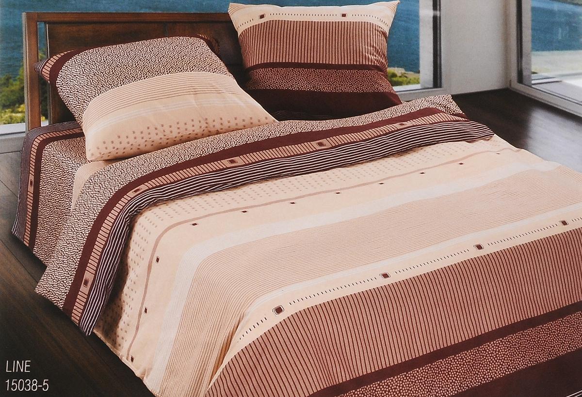 Комплект белья Wenge Line, 1,5-спальный, наволочки 70 x 70, цвет: коричневый, светло-коричневый, бежевый. 299466299466Комплект белья Wenge Line, выполненное из биологически чистой и натуральной ткани Биокомфорт (100% хлопок), подарит прекрасное ощущение во время сна. Комплект состоит из пододеяльника, простыни и двух наволочек. Постельное белье оформлено красивым оригинальным рисунком и имеет изысканный внешний вид. Wenge - современный цвет, получивший свое название от редкой и ценной породы древесины африканских тропических деревьев. Благородный цвет и теплота материала несет в себе энергию природы, атмосферу умиротворения и спокойствия. Именно такая обстановка необходима для снятия накопленного напряжения и нормализации эмоционального состояния. Чем ближе мы к природе, тем лучше мы себя ощущаем. Сдержанность и лаконичность дизайна такого постельного белья подчеркнет индивидуальность владельца и станет великолепным элементом интерьера.