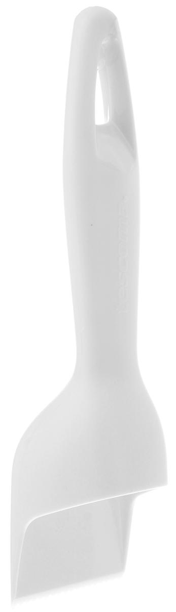Скребок для рыбы Tescoma Presto, цвет: белый, длина 18,5 см420121_белыйСкребок Tescoma Presto прекрасно подходит для легкого, быстрого и безопасного удаления малой и большой чешуи пресноводной и морской рыбы. Изделие выполнено из высококачественного прочного пластика. Зубчатое лезвие приподнимает чешую и легко отделяет ее от кожи. Чешуя при чистке не разлетается. Можно мыть в посудомоечной машине.