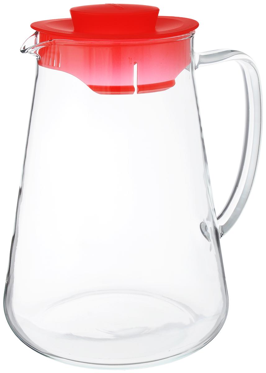 "Кувшин Tescoma ""Teo"", цвет: прозрачный, красный, 2,5 л"