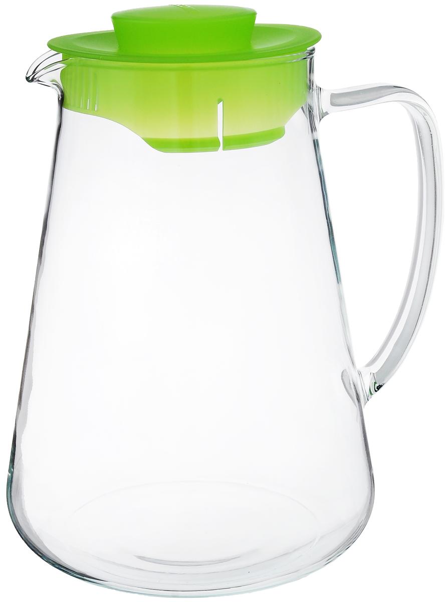 """Кувшин Tescoma """"Teo"""", цвет: прозрачный, зеленый, 2,5 л"""