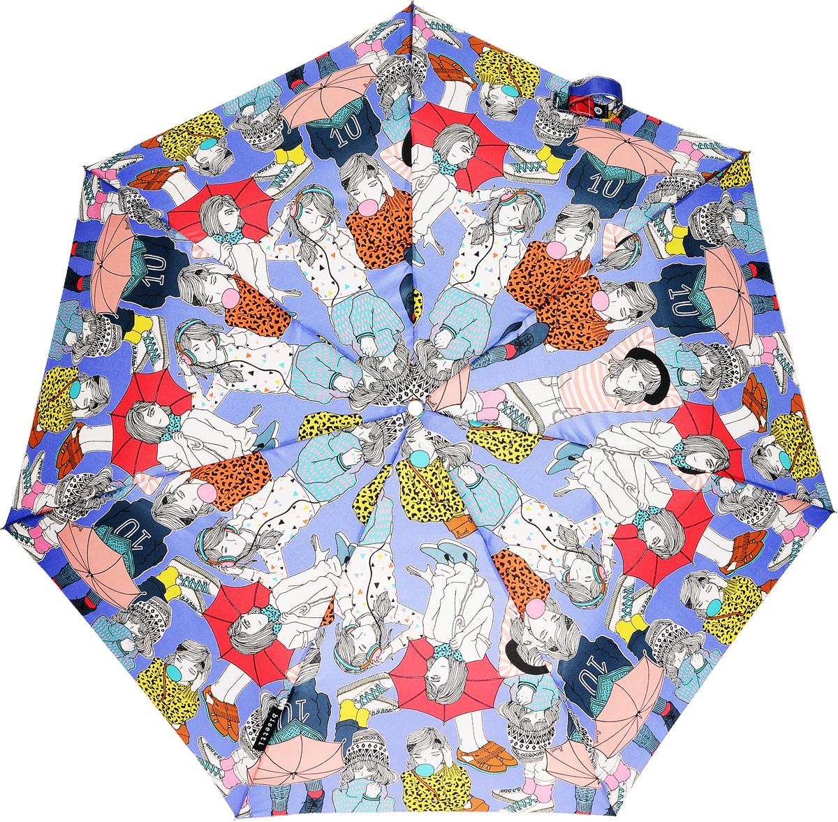Bisetti 35165-2 Зонт полный автом. 3 сл. жен.35165-2Зонт испанского производителя Clima. В производстве зонтов используются современные материалы, что делает зонты легкими, но в то же время крепкими.Полный автомат, 3 сложения, 8 спиц по 54см, полиэстер.