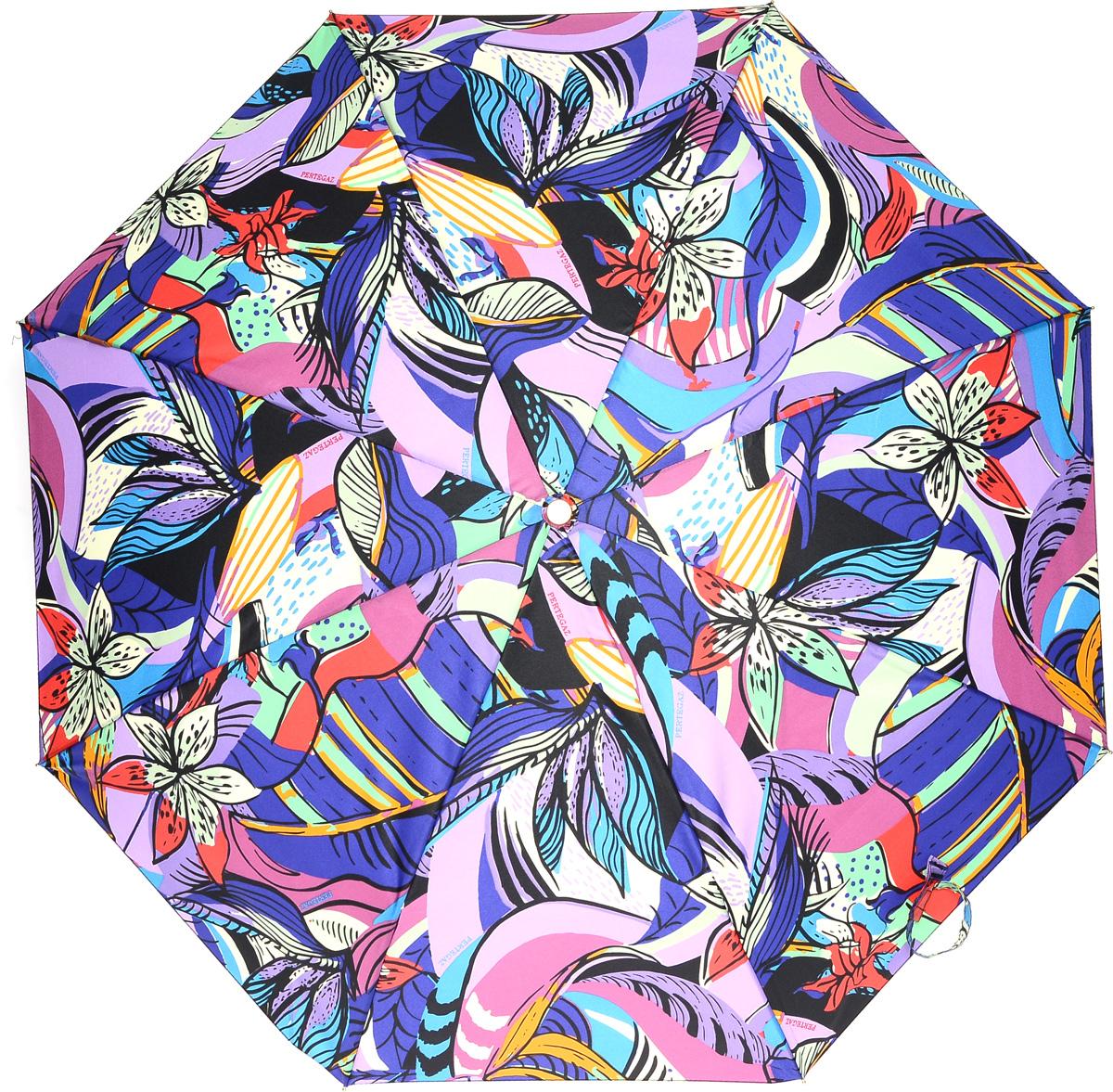 PERTEGAZ 85151-2 Зонт полный автом. 3 сл. жен.85151-2Зонт испанского производителя Clima. В производстве зонтов используются современные материалы, что делает зонты легкими, но в то же время крепкими.Полный автомат, 3 сложения, 8 спиц, полиэстер.