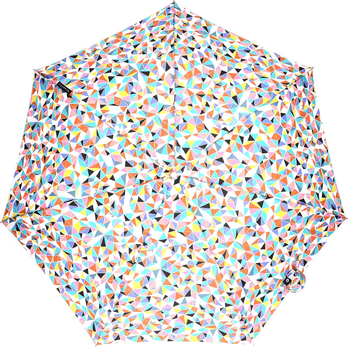 Bisetti 35165-3 Зонт полный автом. 3 сл. жен.35165-3Зонт испанского производителя Clima. В производстве зонтов используются современные материалы, что делает зонты легкими, но в то же время крепкими.Полный автомат, 3 сложения, 8 спиц по 54см, полиэстер.