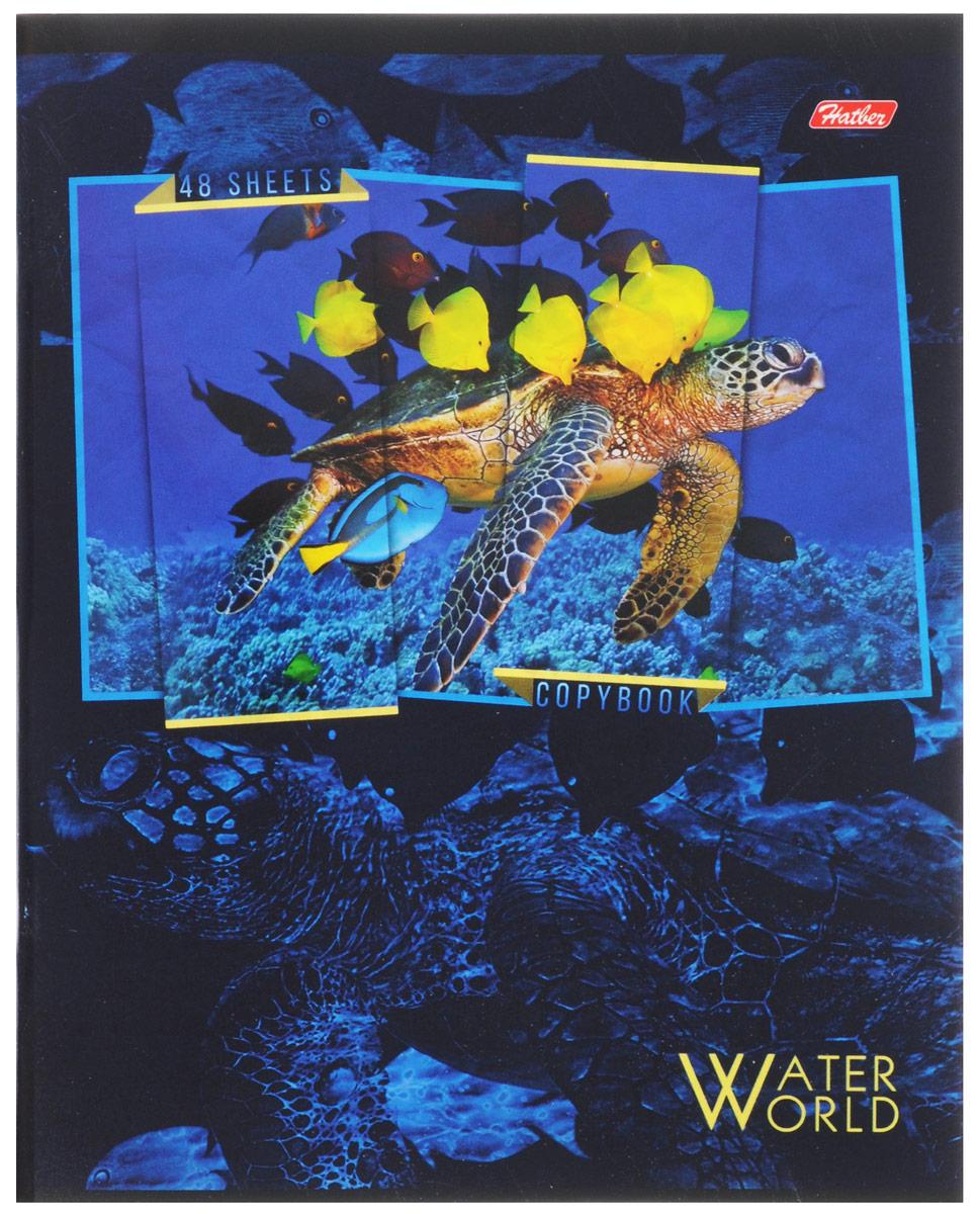 Hatber Тетрадь Водный мир 48 листов в клетку 48Т5вмВ1_14906