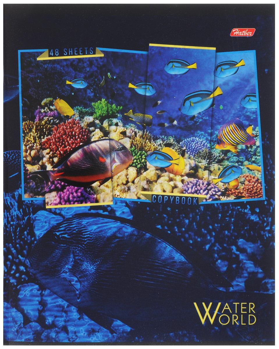 Hatber Тетрадь Водный мир 48 листов в клетку 48Т5вмВ1_14908