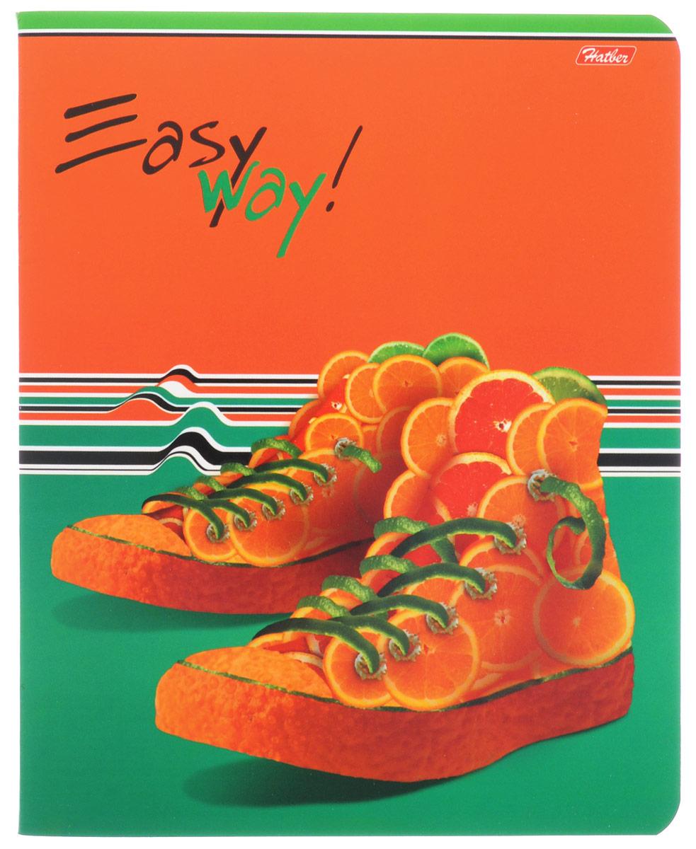 Hatber Тетрадь Фруктово-ягодный шик 48 листов в клетку цвет оранжевый темно-зеленый48Т5вмВ1_14319Тетрадь Hatber Фруктово-ягодный шик отлично подойдет для занятий школьнику, студенту, а также для различных записей. Обложка, выполненная из плотного картона, позволит сохранить тетрадь в аккуратном состоянии на протяжении всего времени использования. Обложка украшена изображением обуви из фруктов и ягод. Внутренний блок тетради, соединенный двумя металлическими скрепками, состоит из 48 листов белой бумаги. Стандартная линовка в клетку голубого цвета дополнена полями, совпадающими с лицевой и оборотной стороны листа. В верхнем углу каждой странички находится разделенное точками место для даты, в нижнем - пустые квадратики для номеров страниц.