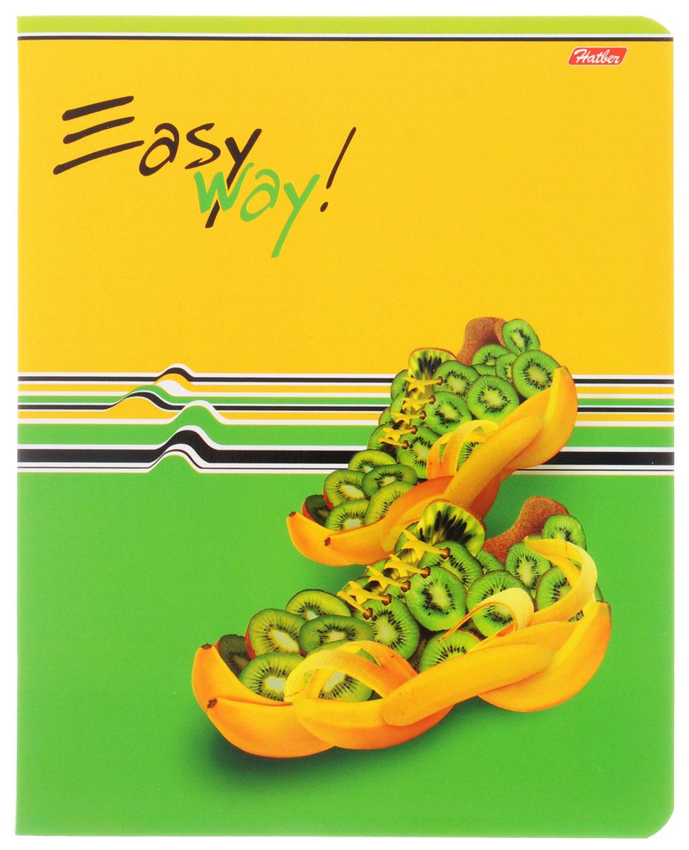Hatber Тетрадь Фруктово-ягодный шик 48 листов в клетку цвет желтый зеленый48Т5вмВ1_14317Тетрадь Hatber Фруктово-ягодный шик отлично подойдет для занятий школьнику, студенту, а также для различных записей. Обложка, выполненная из плотного картона, позволит сохранить тетрадь в аккуратном состоянии на протяжении всего времени использования. Обложка украшена изображением обуви из фруктов и ягод. Внутренний блок тетради, соединенный двумя металлическими скрепками, состоит из 48 листов белой бумаги. Стандартная линовка в клетку голубого цвета дополнена полями, совпадающими с лицевой и оборотной стороны листа. В верхнем углу каждой странички находится разделенное точками место для даты, в нижнем - пустые квадратики для номеров страниц.