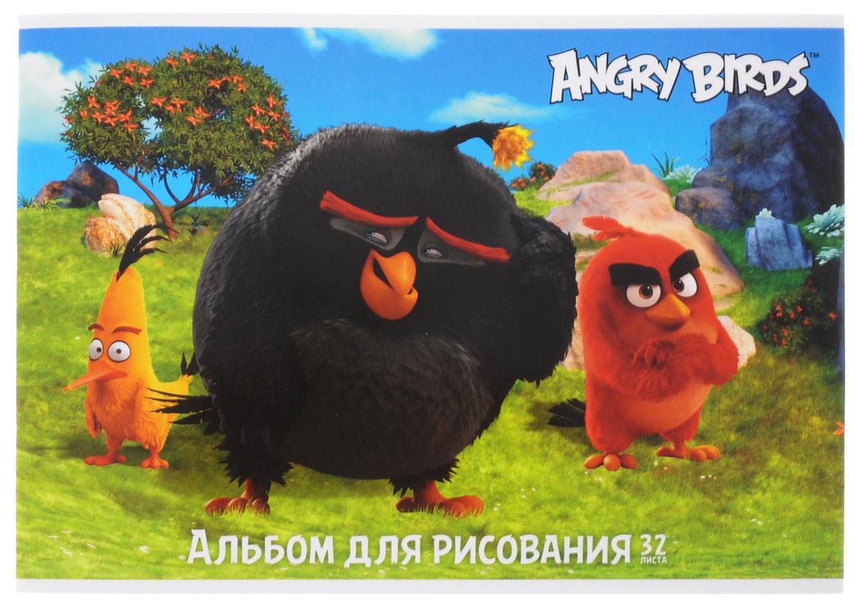 Hatber Альбом для рисования Angry Birds 32 листа 1531432А4В_15314Альбом для рисования Hatber Angry Birds непременно порадует маленького художника и вдохновит его на творчество. Альбом изготовлен из белоснежной бумаги с яркой обложкой из плотного картона, оформленной изображением героев популярной игры Angry Birds. Внутренний блок альбома состоит из 32 листов бумаги. Способ крепления - металлические скрепки. Высокое качество бумаги позволяет рисовать в альбоме карандашами, фломастерами, акварельными и гуашевыми красками.