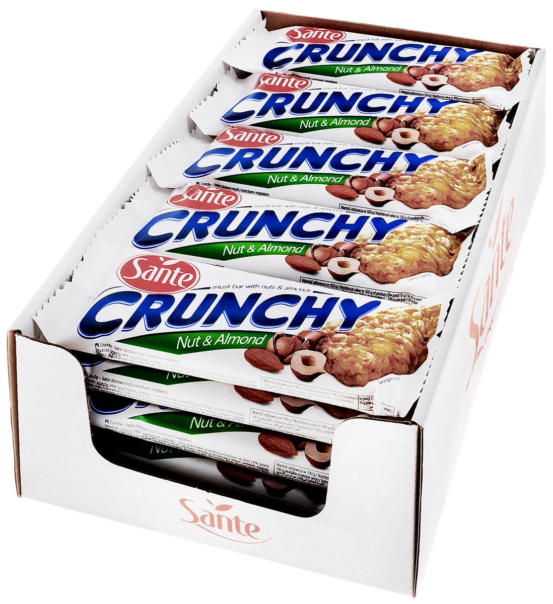 Sante Crunchy батончик мюсли с орехами, 35 г (25 шт)