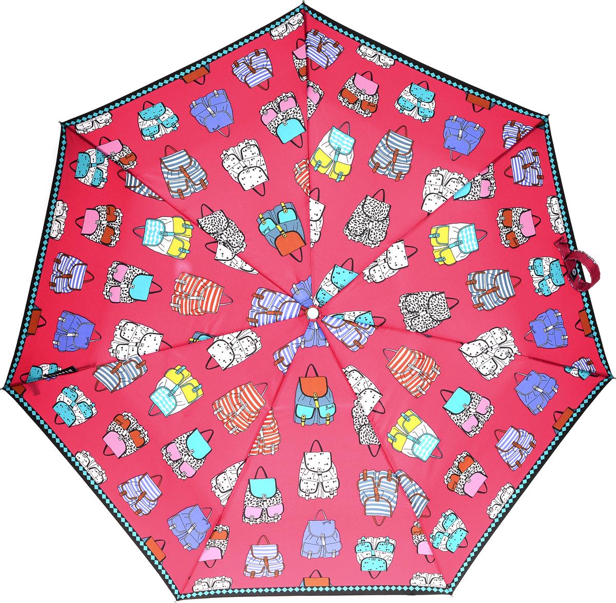 Bisetti 35165-1 Зонт полный автом. 3 сл. жен.35165-1Зонт испанского производителя Clima. В производстве зонтов используются современные материалы, что делает зонты легкими, но в то же время крепкими.Полный автомат, 3 сложения, 8 спиц по 54см, полиэстер.