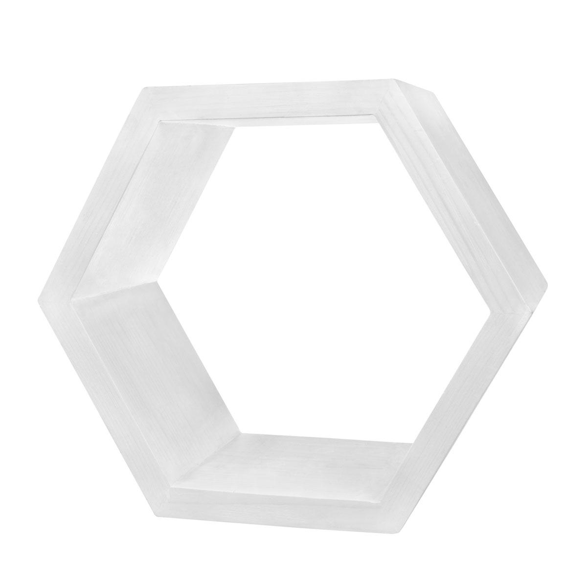 Декоративная полка EcoWoo 50 см, цвет: белыйDSH10NWОригинальные деревянные полки шестигранники. Отличное решение для декорирования комнаты. Несколько полок можно складывать в причудливые сочетания, ограниченные только вашей фантазией. Любой цвет и размер. Станьте креативными дизайнерами своего жилого пространства!