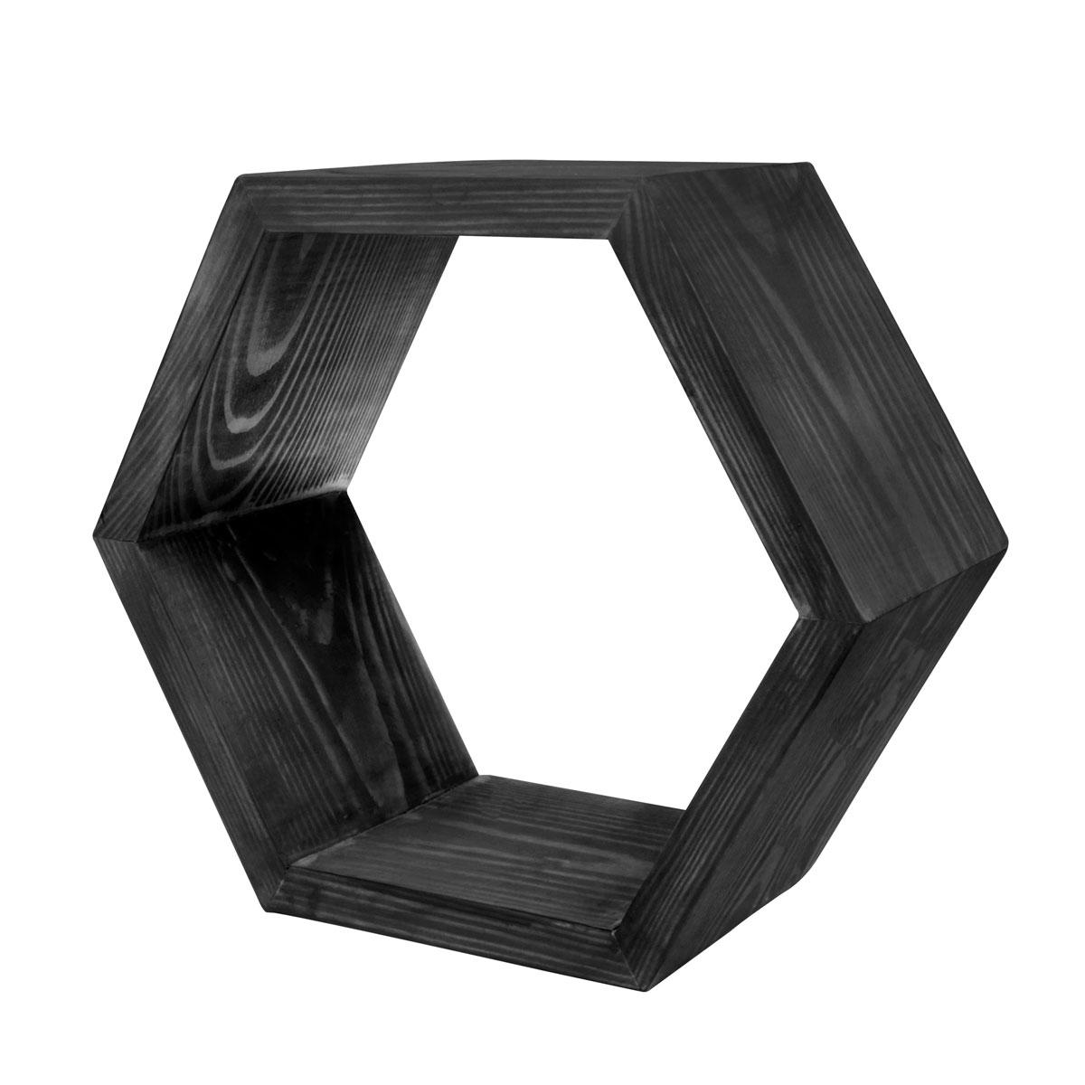 Декоративная полка EcoWoo 20 см, цвет: черныйDSH7NBОригинальные деревянные полки шестигранники. Отличное решение для декорирования комнаты. Несколько полок можно складывать в причудливые сочетания, ограниченные только вашей фантазией. Любой цвет и размер. Станьте креативными дизайнерами своего жилого пространства!