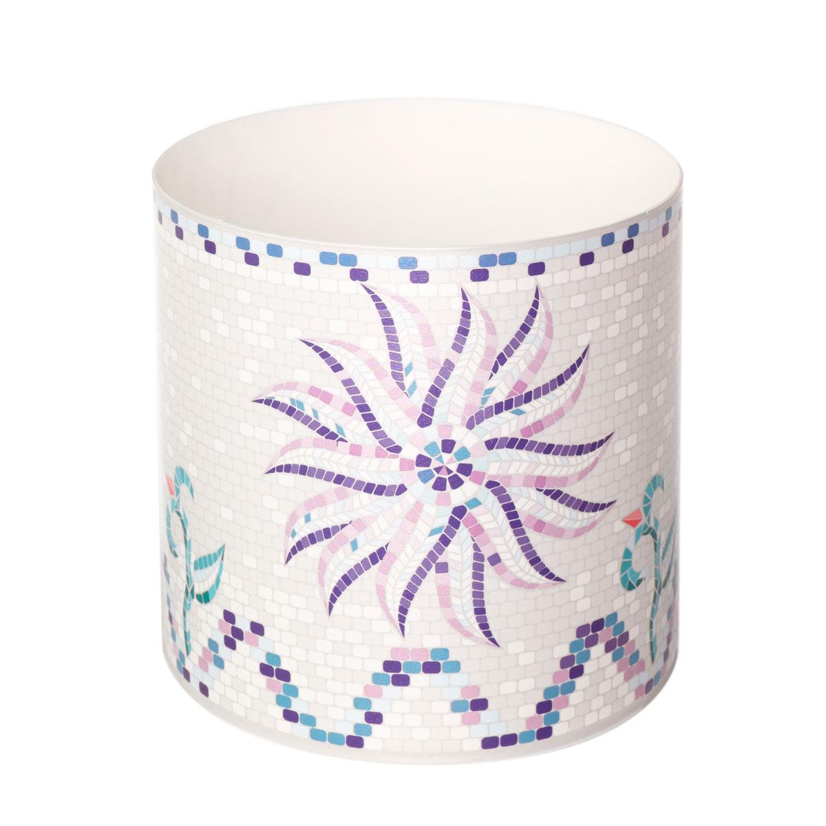 Горшок для цветов Miolla Мозаика белая со скрытым поддоном, 1лSMG-19Декоративный горшочек Miolla c 3D рисунком. Хорошо будут смотреться как основа для топиариев и флористических композиций. А так же замечательно для комнатных цветов. Со скрытым поддоном.