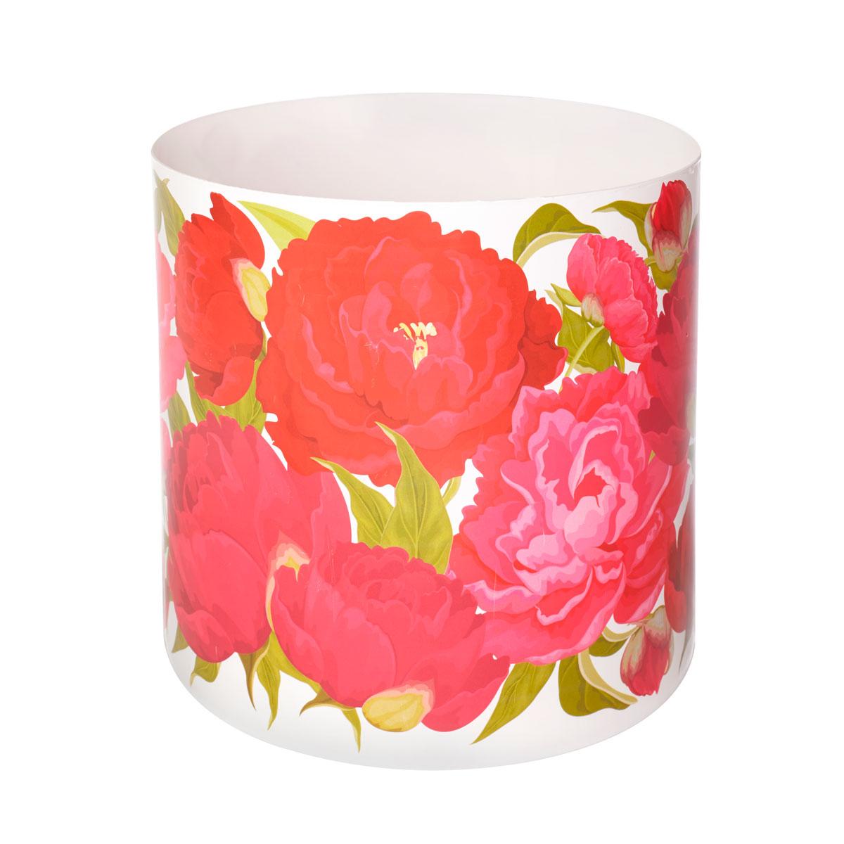 Горшок для цветов Miolla Пионы со скрытым поддоном, 5,1лSMG-25Декоративный горшочек Miolla c 3D рисунком. Хорошо будут смотреться как основа для топиариев и флористических композиций. А так же замечательно для комнатных цветов. Со скрытым поддоном.