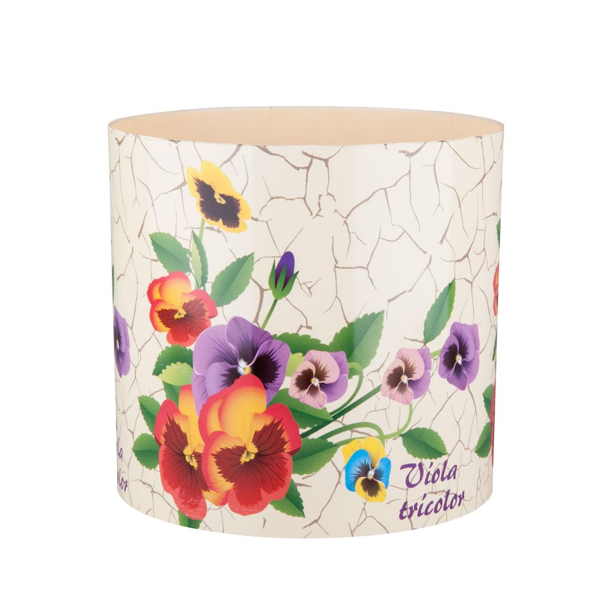 Горшок для цветов Miolla «Прованс фиалки» со скрытым поддоном, 2,8л стеклянные кашпо для орхидей купить