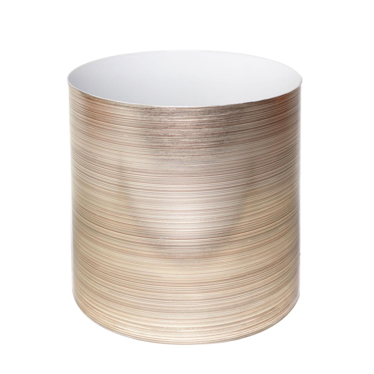 Горшок для цветов Miolla Золото со скрытым поддоном, 5,1лSMG-50Декоративный горшочек Miolla c 3D рисунком. Хорошо будут смотреться как основа для топиариев и флористических композиций. А так же замечательно для комнатных цветов. Со скрытым поддоном.
