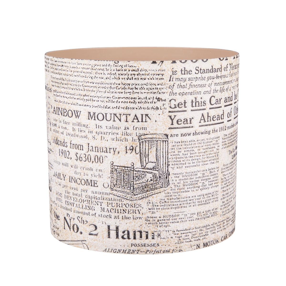 Горшок для цветов Miolla Газетный стиль, со скрытым поддоном, 2,8 лSMG-65Горшок для цветов Miolla Газетный стиль со скрытым поддоном выполнен из пластика. Диаметр горшка: 16,5 см. Высота горшка (с учетом поддона): 16 см. Объем горшка: 2,8 л.