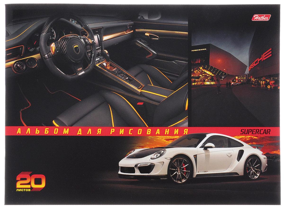 Hatber Альбом для рисования Porsche 20 листов 20А4вмВ_14547