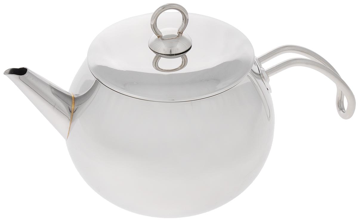 Чайник МИКА Стандарт, 2,2 лмк22Чайник МИКА Стандарт изготовлен из высококачественной нержавеющей стали и оснащен удобной фиксированной ручкой. Эстетичный и функциональный, с эксклюзивным дизайном, чайник будет оригинально смотреться в любом интерьере. Подходит для всех типов плит, включая индукционные. Можно мыть в посудомоечной машине. Высота чайника (без учета ручки и крышки): 12 см. Высота чайника (с учетом ручки и крышки): 16 см. Диаметр чайника (по верхнему краю): 13,2 см.